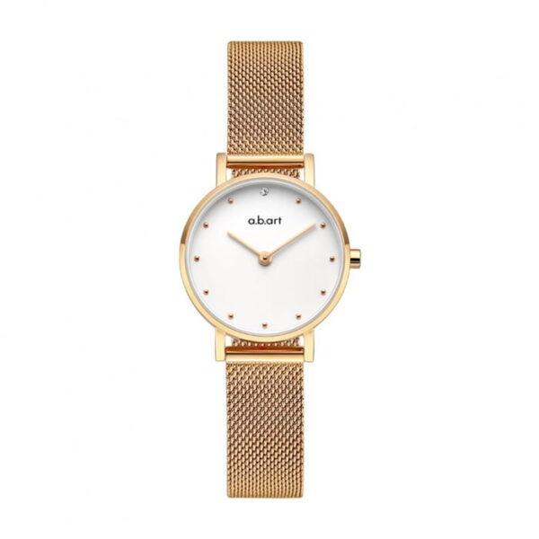 montre femme bracelet acier a.b.art FQ26-000-7S