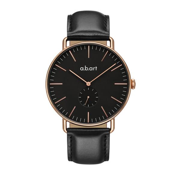 montre homme bracelet cuir a.b.art FR41-015-1L