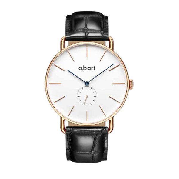 montre homme bracelet cuir a.b.art FR41-001-15L