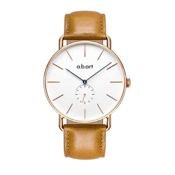 montre homme bracelet cuir a.b.art FR41-001-3L