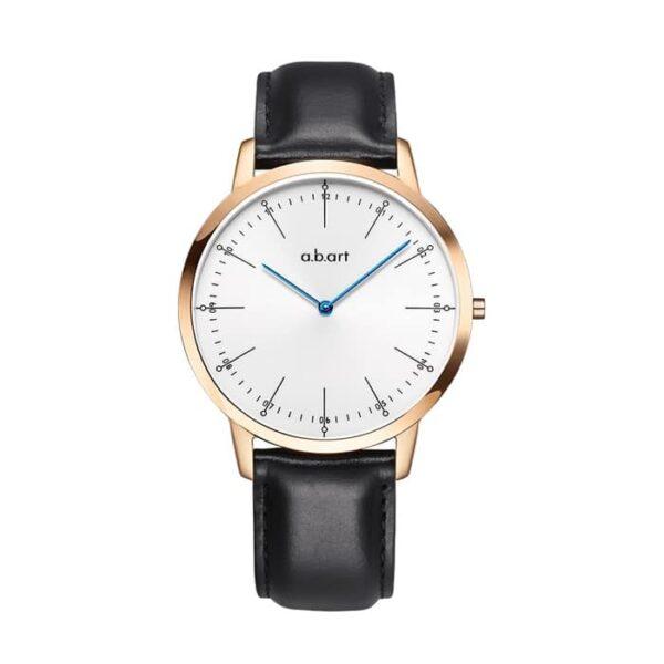 montre homme bracelet cuir a.b.art FL41-001-1L