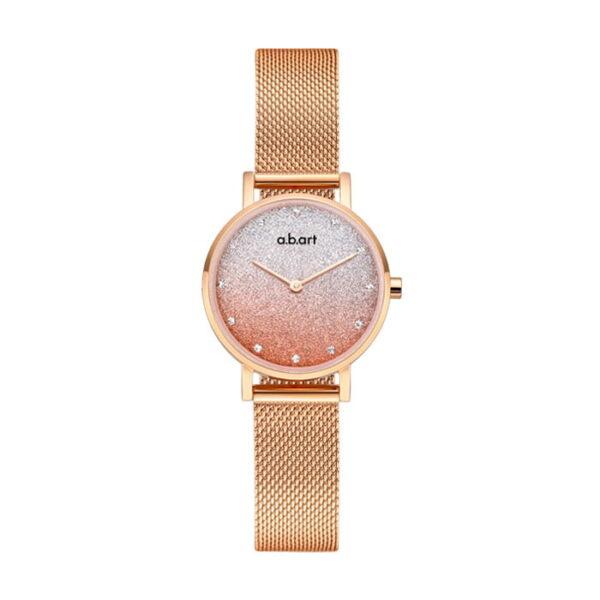 montre femme bracelet acier a.b.art FQ26-008-7S