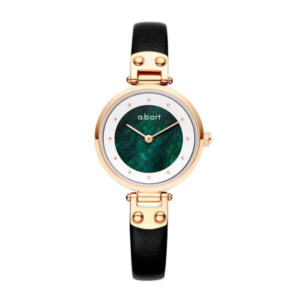 montre femme bracelet cuir a.b.art GF28-019-1L