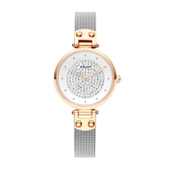 montre femme bracelet acier a.b.art GF28-036-6S