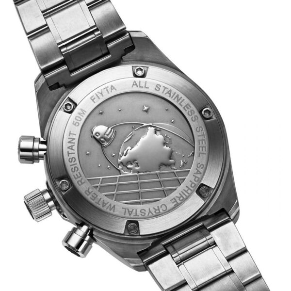 montre chronographe automatique Fiyta Aeronautics GA8370.WBW