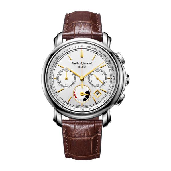 Montre chronographe automatique hommeEmile Chouriet Lac Léman 16.1168.G42.6.8.28.2
