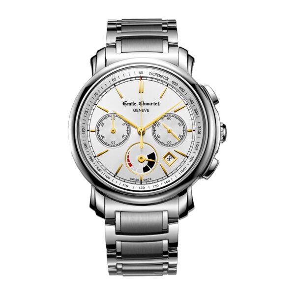 Montre chronographe automatique hommeEmile Chouriet Lac Léman 16.1168.G42.6.8.28.6