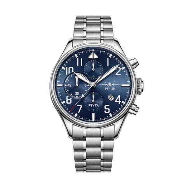 montre chronographe automatique Fiyta Mach J-20 GA881010.WLW