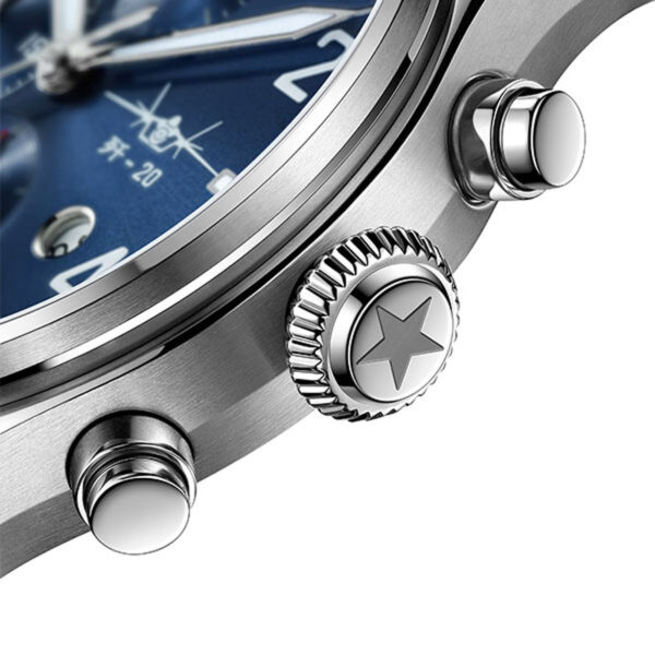 poussoirs montre chronographe automatique Fiyta Mach J-20 GA881010.WLW
